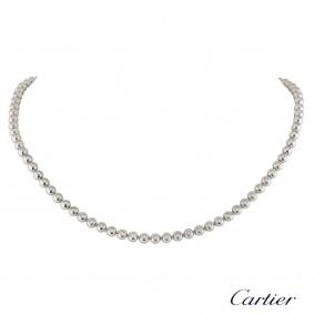 Cartier White Gold Diamond Moonlight Necklace 3.36ct G+/VVS